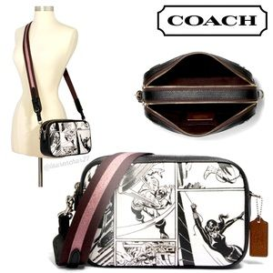 COACH MARVEL Crossbody Comic Print Captain America